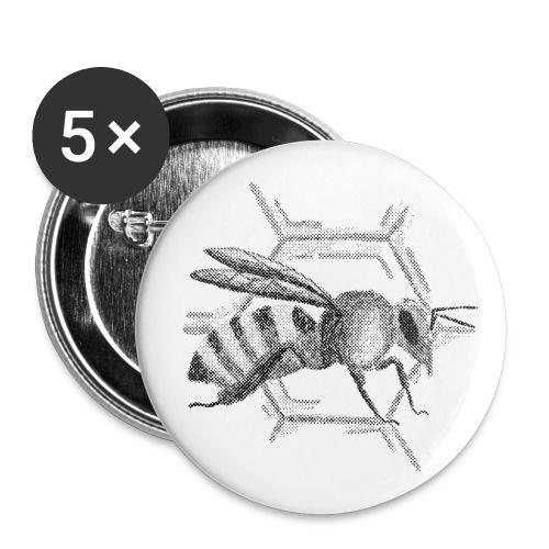 Biene - Buttons klein 25 mm (5er Pack)