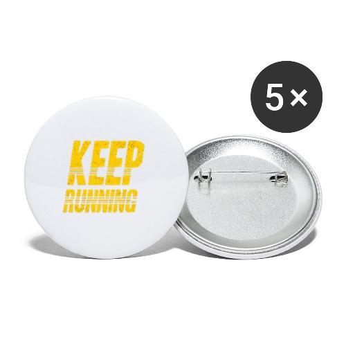 Keep running - Buttons klein 25 mm (5er Pack)