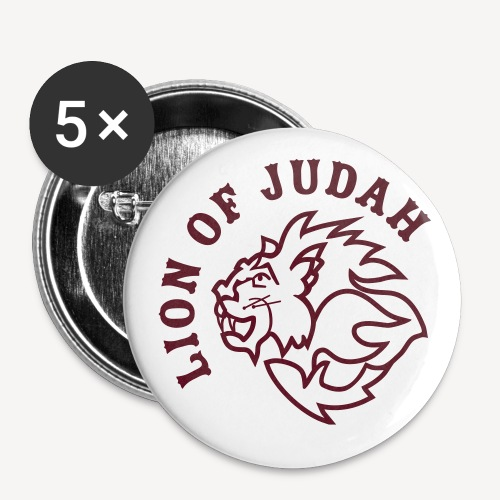 LION OF JUDAH - Buttons small 1''/25 mm (5-pack)