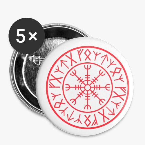 Helm of Awe Aegirsjhalmr - Buttons/Badges lille, 25 mm (5-pack)