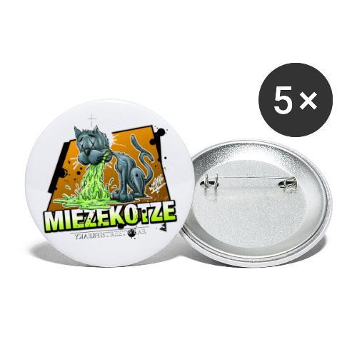 Miezekotze - Buttons klein 25 mm (5er Pack)