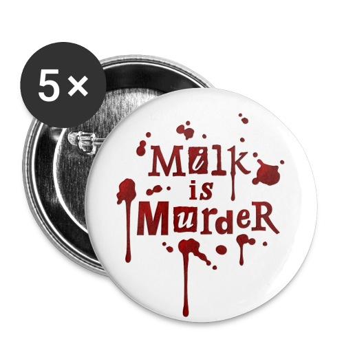 01_t_milkismurder - Buttons klein 25 mm (5er Pack)