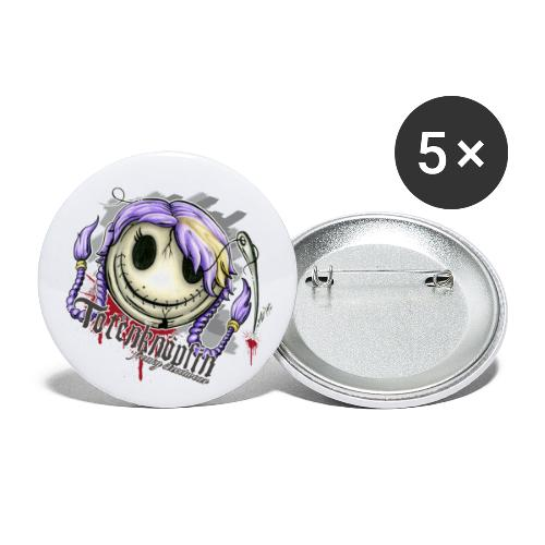 Totenknöpfin - Buttons klein 25 mm (5er Pack)