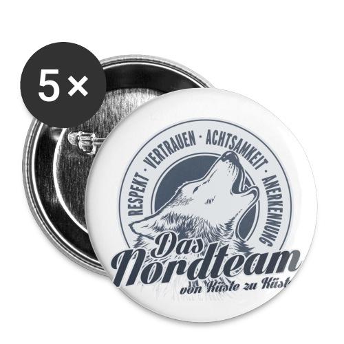 Logo Wolfsrudel - Buttons klein 25 mm (5er Pack)
