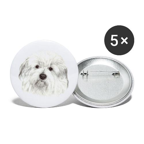 coton-de-tulear - Buttons/Badges lille, 25 mm (5-pack)