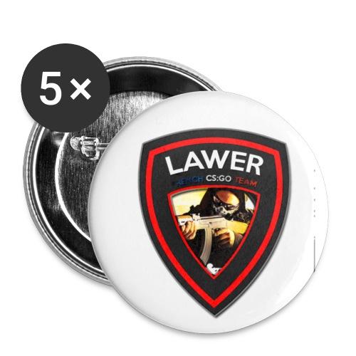 Lawer Logo - Lot de 5 petits badges (25 mm)