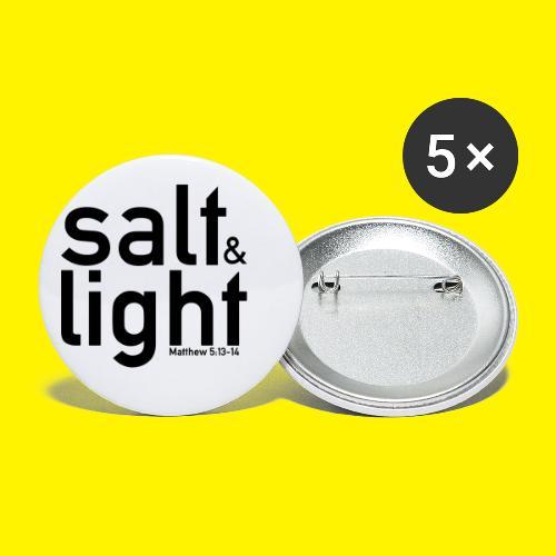 Salt & Light - Matthew 5: 13-14 - Buttons small 1''/25 mm (5-pack)