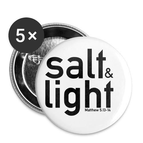 Salt & Light - Matthew 5: 13-14 - Buttons small 25 mm