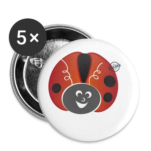 Ladybug - Symbols of Happiness - Buttons small 1''/25 mm (5-pack)