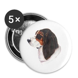 bassethound color - Buttons/Badges lille, 25 mm