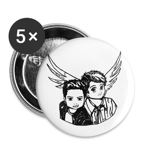 Destiel i sort/hvid - Buttons/Badges lille, 25 mm (5-pack)