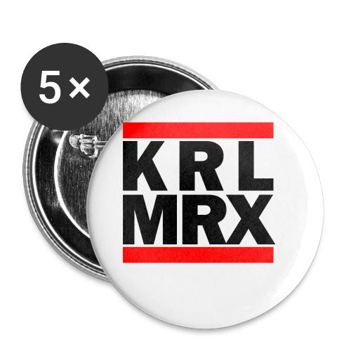 Krl Mrx | Karl Marx | T-Shirt - Buttons klein 25 mm (5er Pack)