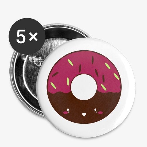 Icing Doughnut - Buttons small 1''/25 mm (5-pack)