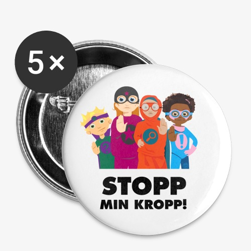 Stopp min kropp! - Små knappar 25 mm (5-pack)