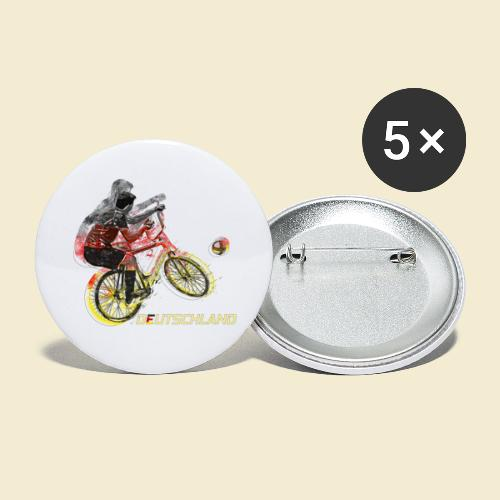 Radball   Deutschland - Buttons klein 25 mm (5er Pack)
