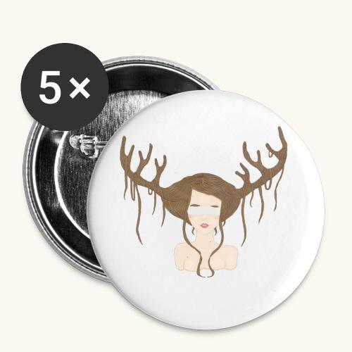 Blind Deer. - Lot de 5 petits badges (25 mm)