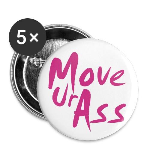 MoveUrAss - Buttons klein 25 mm (5er Pack)