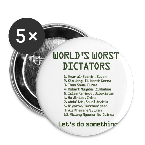 worldsworstdictators - Buttons small 1''/25 mm (5-pack)