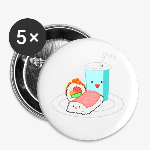 Happy Sushi - Buttons klein 25 mm (5-pack)