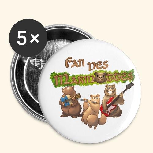 Tshirt fans - Lot de 5 petits badges (25 mm)