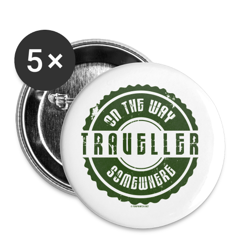 FP13 TR-02 ON THE WAY SOMEWHERE-TRAVELLER PRODUCTS - Rintamerkit pienet 25 mm (5kpl pakkauksessa)