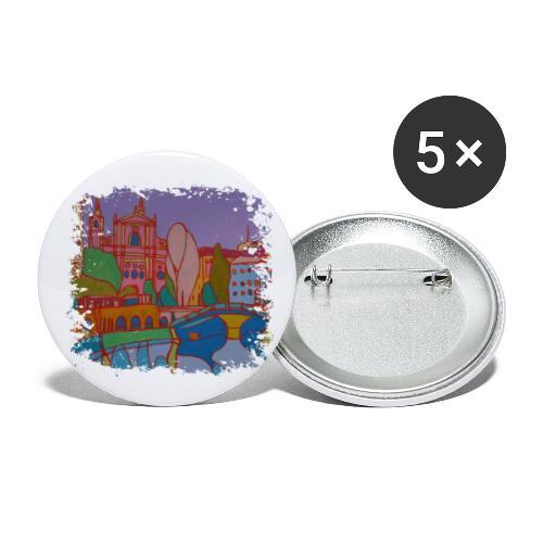 Ljubljana - Buttons klein 25 mm (5er Pack)