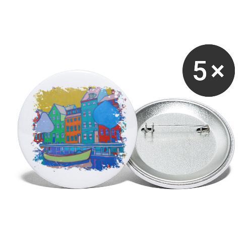 Kopenhagen - Buttons klein 25 mm (5er Pack)