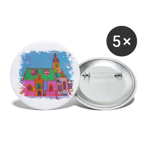 Zagreb - Buttons klein 25 mm (5er Pack)