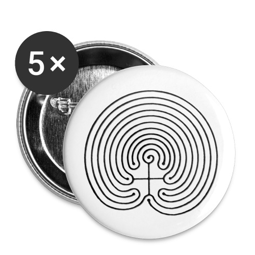 LabIRRinth Logo 2001 Chakra Labyrinth - Buttons klein 25 mm (5er Pack)