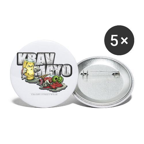 Krav Mayo - Buttons klein 25 mm (5er Pack)