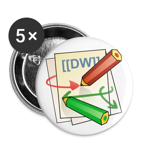 DokuWiki Logo - Buttons small 1''/25 mm (5-pack)