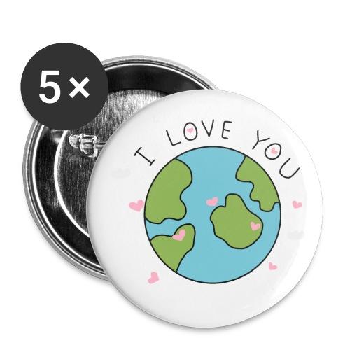 iloveyou - Confezione da 5 spille piccole (25 mm)