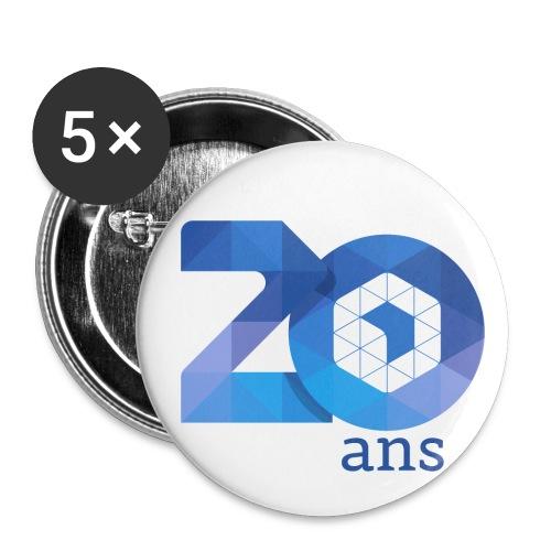 20 ans de l'AFUP - par Laury S. - Lot de 5 petits badges (25 mm)
