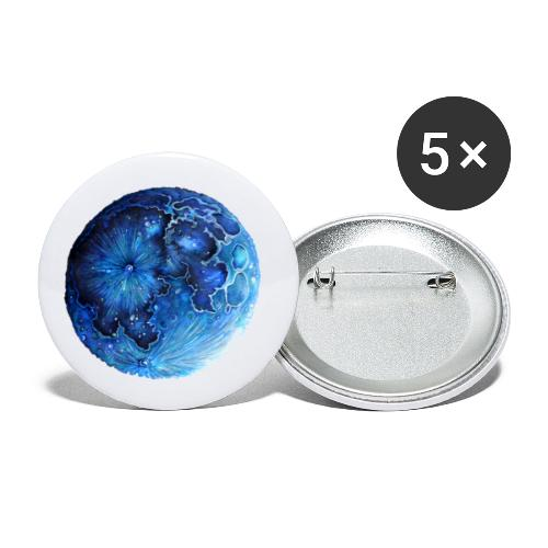 Blue moon Mood - Buttons klein 25 mm (5er Pack)