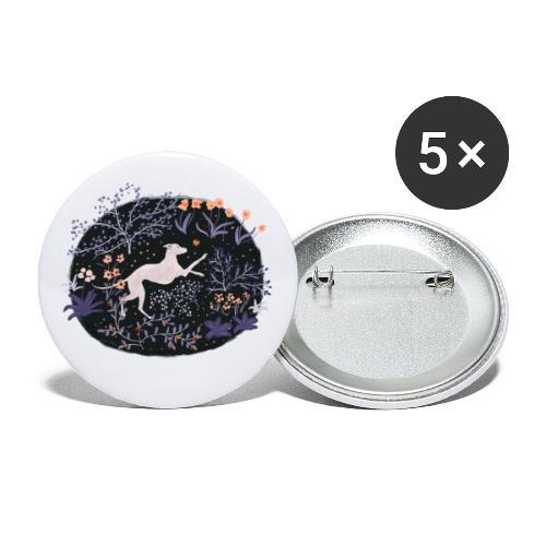 Windhund im Traumwald - Buttons klein 25 mm (5er Pack)