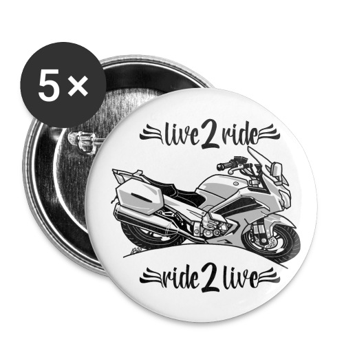 0964 live 2 ride ride 2 live - Buttons klein 25 mm (5-pack)
