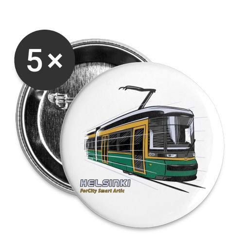 Helsingin Raitiovaunu T-paidat, 154 upeaa tuotetta - Rintamerkit pienet 25 mm (5kpl pakkauksessa)