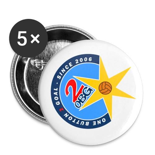 ob2g logo 400dpi transparent - Buttons klein 25 mm (5er Pack)