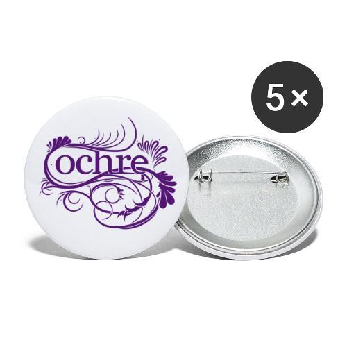 Ochre Logo - Buttons small 1''/25 mm (5-pack)
