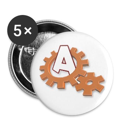 Treff Retro-Logo - Buttons klein 25 mm (5er Pack)