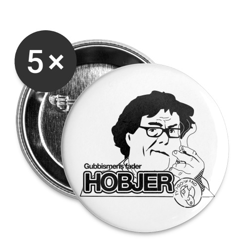 Hobjer - Små knappar 25 mm (5-pack)