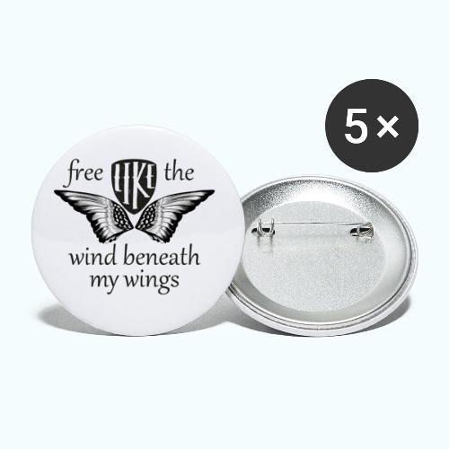 Free like the wind beneath my wings - Buttons small 1''/25 mm (5-pack)