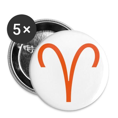 Ariete - Confezione da 5 spille piccole (25 mm)