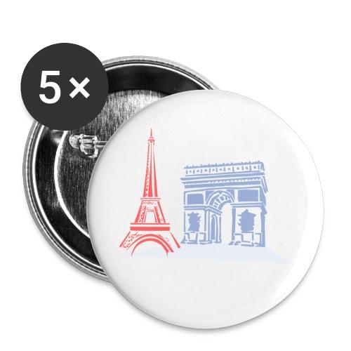 Paris - Lot de 5 petits badges (25 mm)
