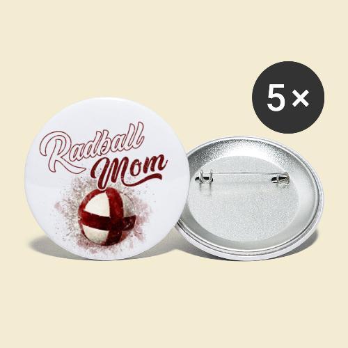 Radball Mom - Buttons klein 25 mm (5er Pack)