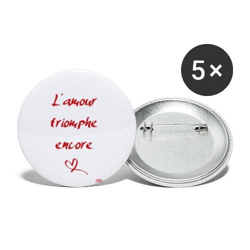 L'amour triomphe encore - Lot de 5 petits badges (25 mm)
