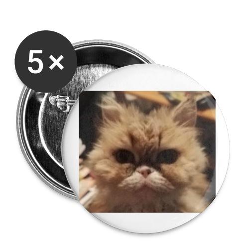 Okra kissa - Rintamerkit pienet 25 mm (5kpl pakkauksessa)