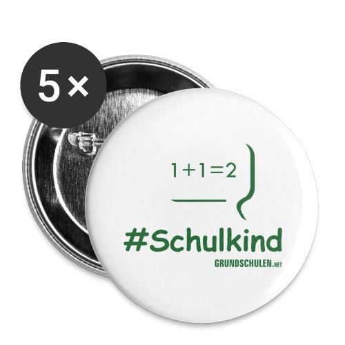 #schulkind mit Tafel - Buttons klein 25 mm (5er Pack)