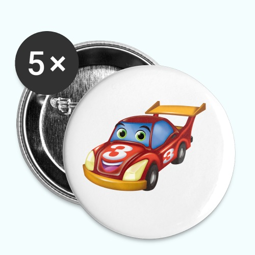 Arthur Racing Car Collection - Buttons small 1''/25 mm (5-pack)