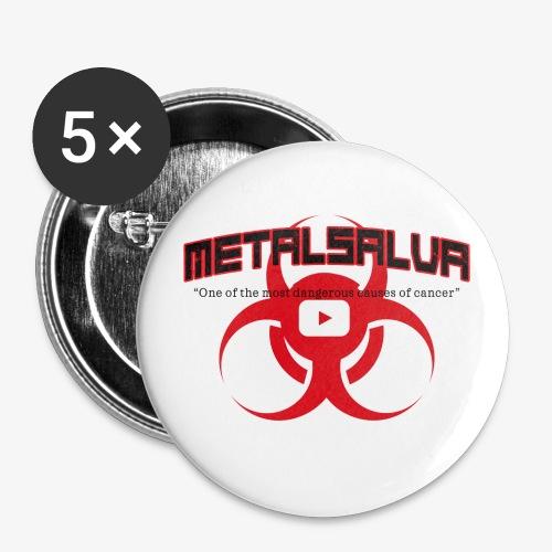 METALSALVA Cancer #1 - Confezione da 5 spille piccole (25 mm)